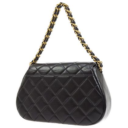 chanel-quilted-cc-chain-hand-bag-purse-black