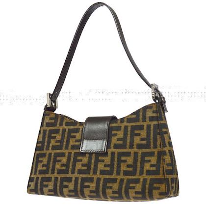 fendi-zucca-pattern-hand-bag-purse-brown