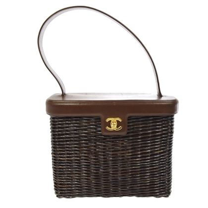 chanel-cc-logos-shoulder-bag-dark-brown-rattan