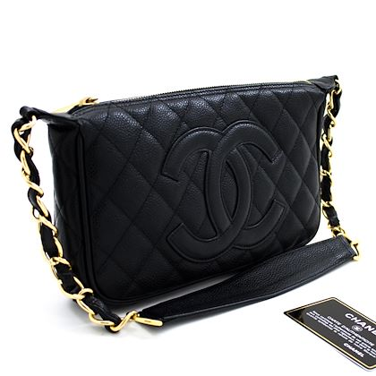 chanel-caviar-mini-small-chain-one-shoulder-bag-black-quilted-leather