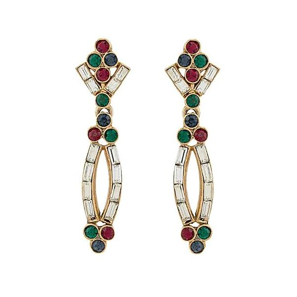 1980s-vintage-jewel-toned-earrings