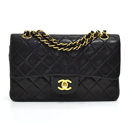 vintage-chanel-classic-9-double-flap-black-quilted-lambskin-leather-shoulder-bag