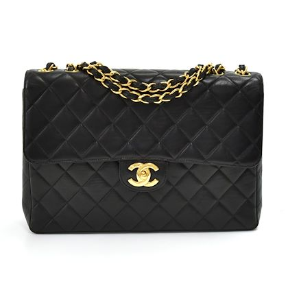 vintage-chanel-12-jumbo-black-quilted-lambskin-leather-classic-flap-bag