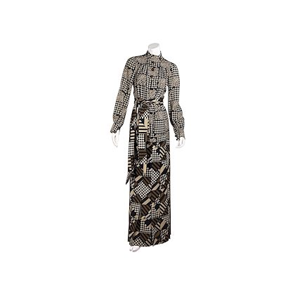 brown-vintage-emanuel-ungaro-printed-wool-tunic-and-skirt-set