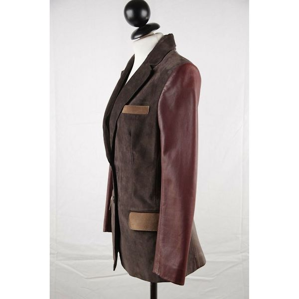 couture-du-cuir-brown-panelled-suede-and-leather-blazer-jacket-size-40