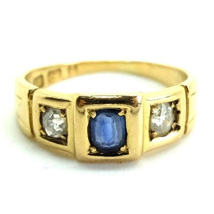 antique-victorian-1880-sapphire-18ct-gold-diamond-ring