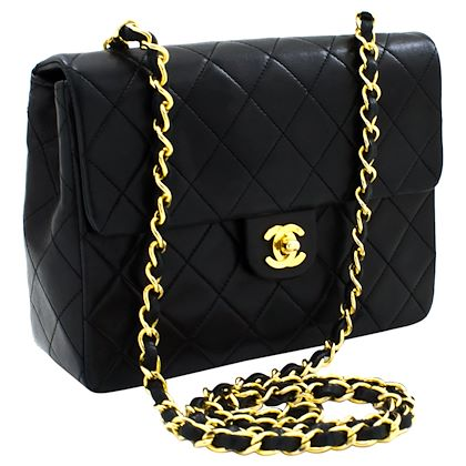 chanel-mini-square-small-chain-shoulder-crossbody-bag-black-quilt-leather-4