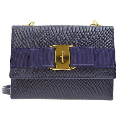 salvatore-ferragamo-vara-bow-trifold-shoulder-wallet-purse-navy