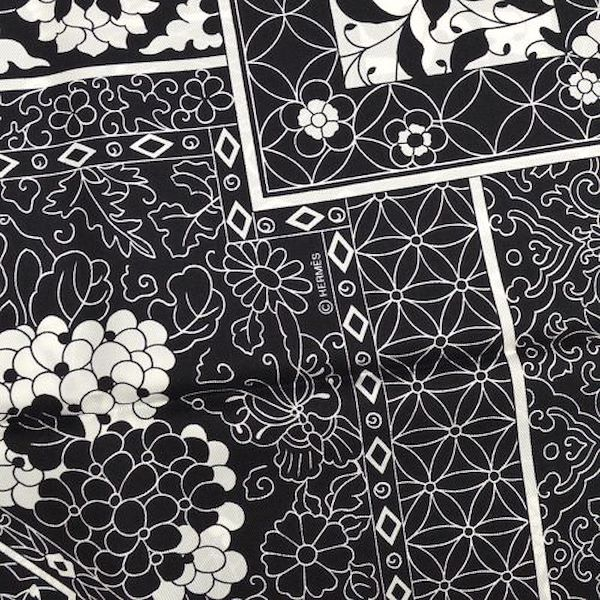 hermes-collections-imperiales-scarf-black