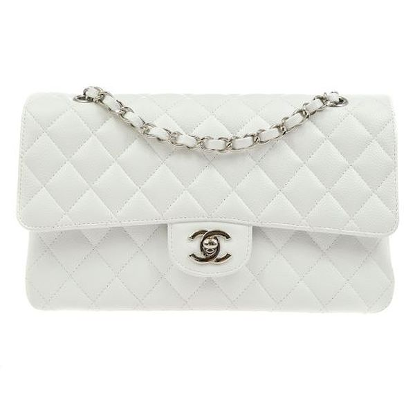 chanel-quilted-double-flap-chain-shoulder-bag-white-caviar-2