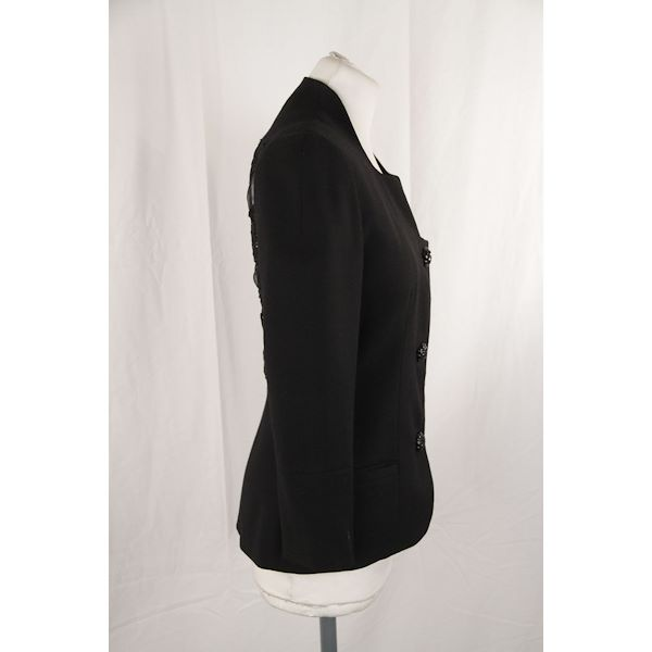 gai-mattiolo-collarless-jacket-with-lace-back-size-42