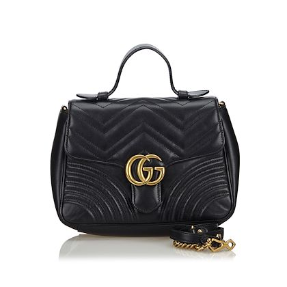 black-gucci-leather-marmont-satchel