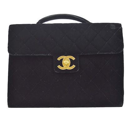 chanel-quilted-cc-briefcase-business-hand-bag-purse-black