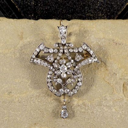 antique-late-victorian-350ct-diamond-total-drop-pendant-brooch-gold-silver