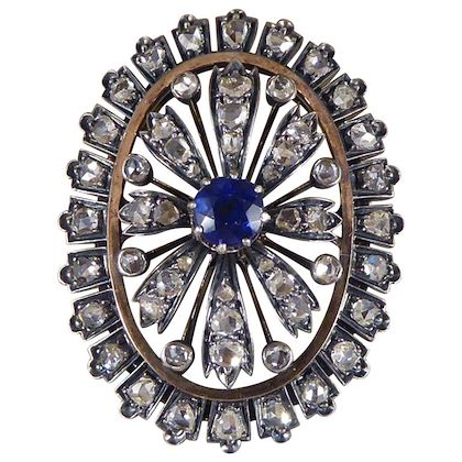 antique-late-victorian-sapphire-and-diamond-cluster-brooch-gold-and-silver