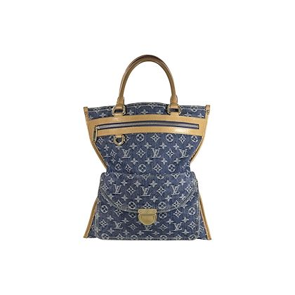 blue-louis-vuitton-denim-sac-plat-monogram-tote-bag