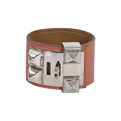 orange-hermes-leather-collier-de-chien-bracelet