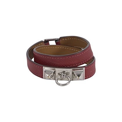red-hermes-leather-epsome-rivale-wrap-bracelet