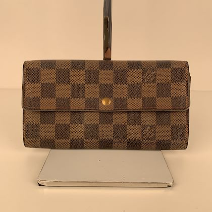 louis-vuitton-danier-ebene-canvas-long-sarah-clutch-wallet