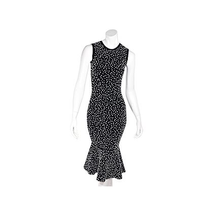 black-michael-kors-collection-embellished-sheath-dress