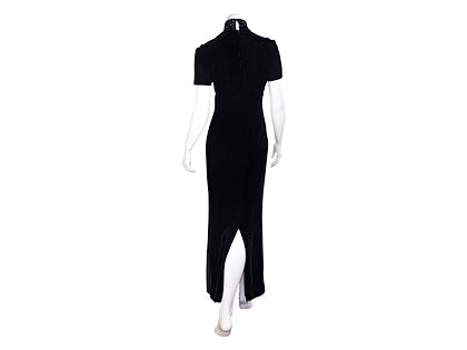 black-vintage-1990s-christian-dior-velvet-maxi-dress