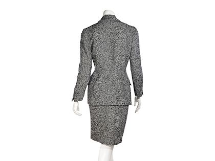 grey-thierry-mugler-textured-skirt-suit-set