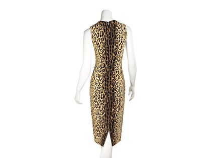 multicolor-celine-leopard-sheath-dress