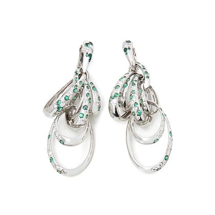 18k-white-gold-diamond-emerald-drop-catene-earrings