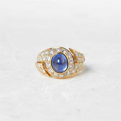 18k-yellow-gold-cabochon-sapphire-diamond-cocktail-ring