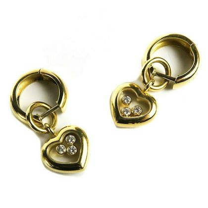 chopard-diamond-earrings-happy-heart-charm-18k-yellow-gold-charms-centers-pre-owned-used