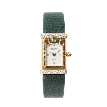 van-cleef-arpels-18k-facade-diamond-bezel-watch-green