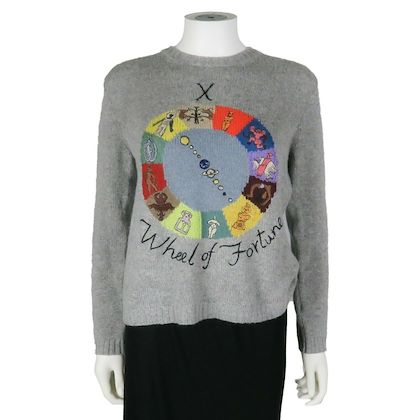 christian-dior-cashmere-sweater-gray-wheel-of-fortune-motherpeace-us-8-40-pre-owned-used