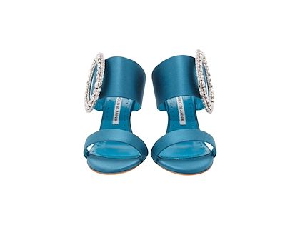 teal-manolo-blahnik-fibiona-embellished-satin-mule-sandals