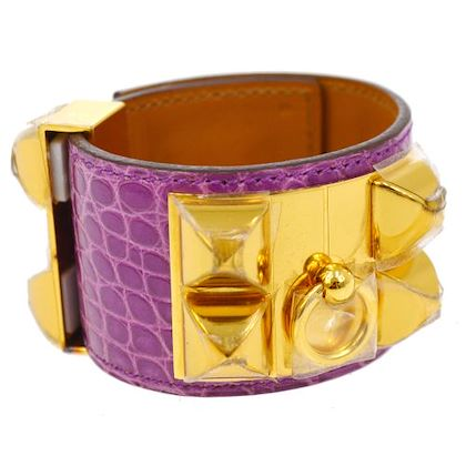 hermes-collier-de-chien-bangle-ombre-purple-alligator