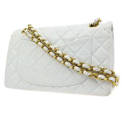 chanel-quilted-double-flap-chain-shoulder-bag-white-2