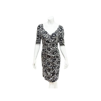 black-white-dolce-gabbana-lace-printed-dress