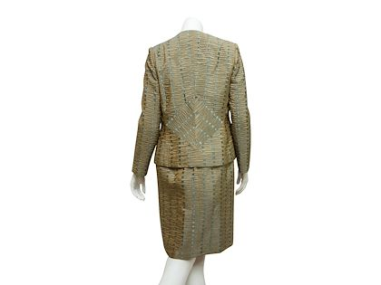 green-blue-bill-blass-textured-jacket-dress-set