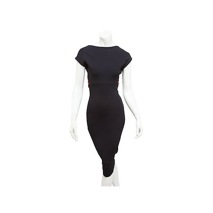 black-burgundy-victoria-beckham-sheath-dress