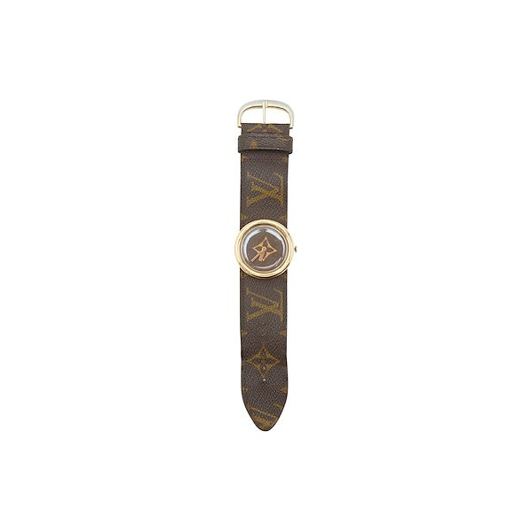 brown-vintage-louis-vuitton-french-company-monogram-watch