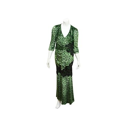 metallic-green-black-andrew-gn-embellished-gown