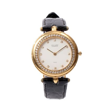 van-cleef-arpels-18k-sports-ii-diamond-bezel-watch-black