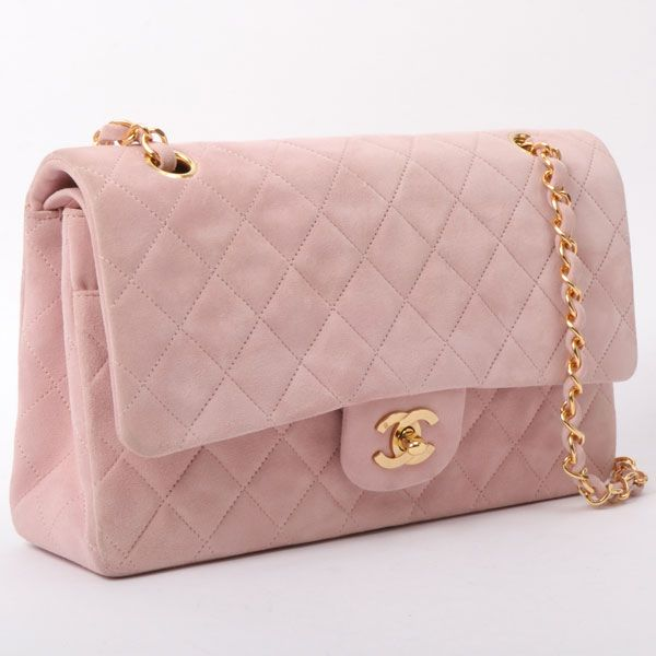 chanel-suede-classic-flap-chain-bag-25cm-baby-pink