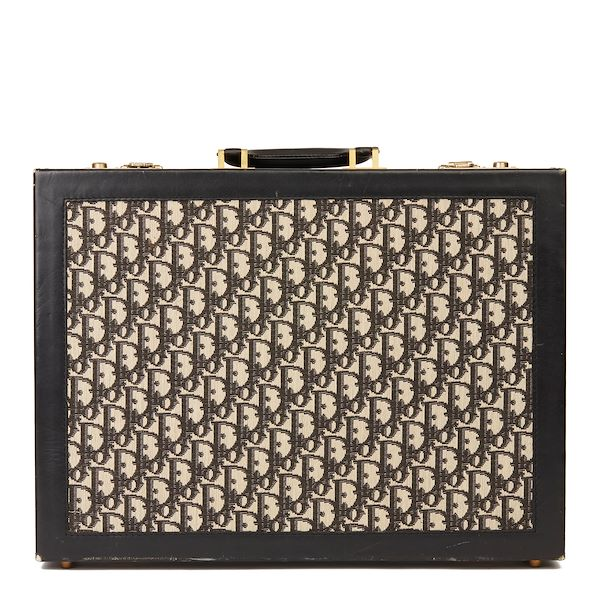 black-monogram-canvas-calfskin-leather-vintage-briefcase
