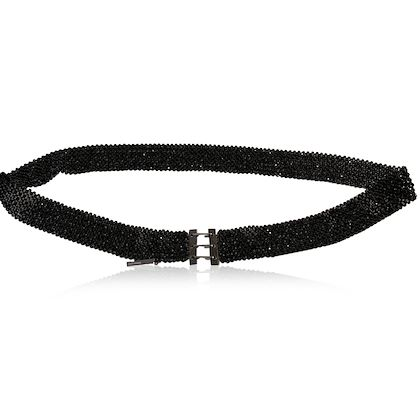 christian-dior-homme-black-beaded-strip-belt-rare-hedi-slimane