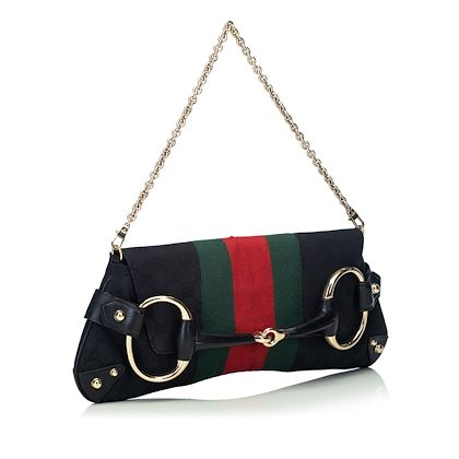 black-and-multi-gucci-gg-web-horsebit-baguette-shoulder-bag