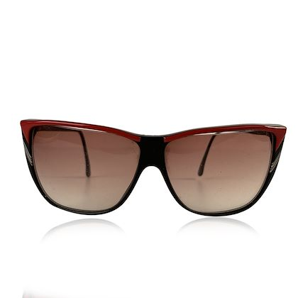 roberta-di-camerino-vintage-black-red-square-sunglasses-r56