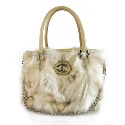 just-cavalli-beige-leather-handbag