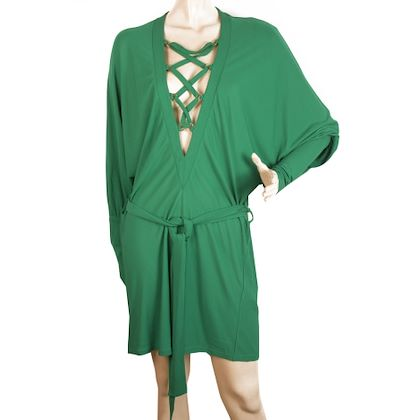 balmain-green-mini-dress