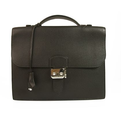 hermès-black-briefcase-folder