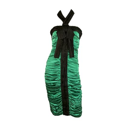 dolce-gabbana-green-midi-dress